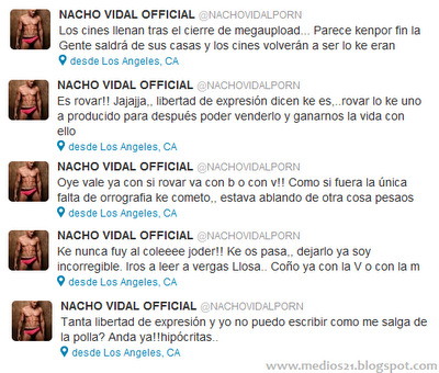 nacho vidal twitter faltas ortografia